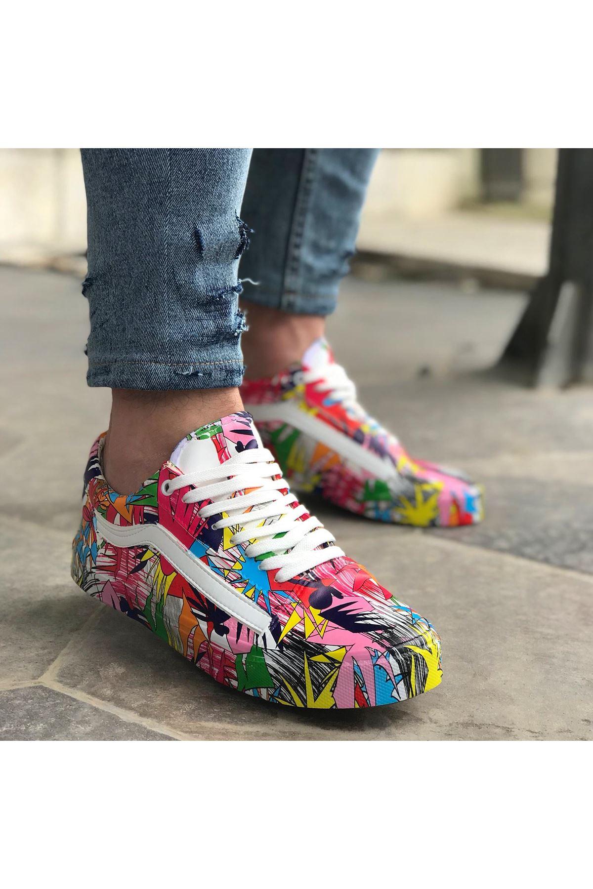 Doso Pop-Art Erkek Spor Ayakkabı