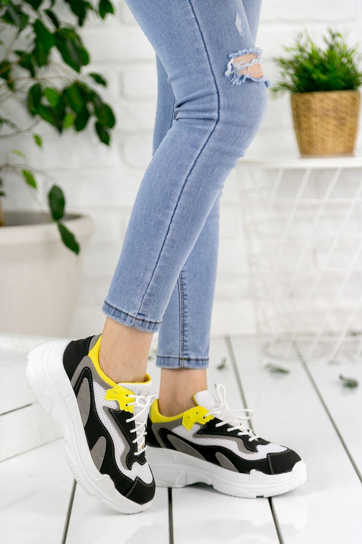 Qeyna Ortapedik Yüksek Taban Spor Ayakkabı