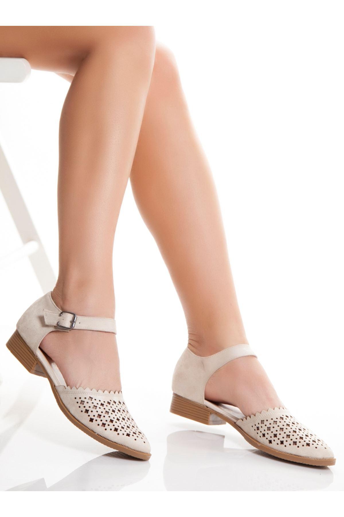 Vera Vizon Süet Bayan Ayakkabı