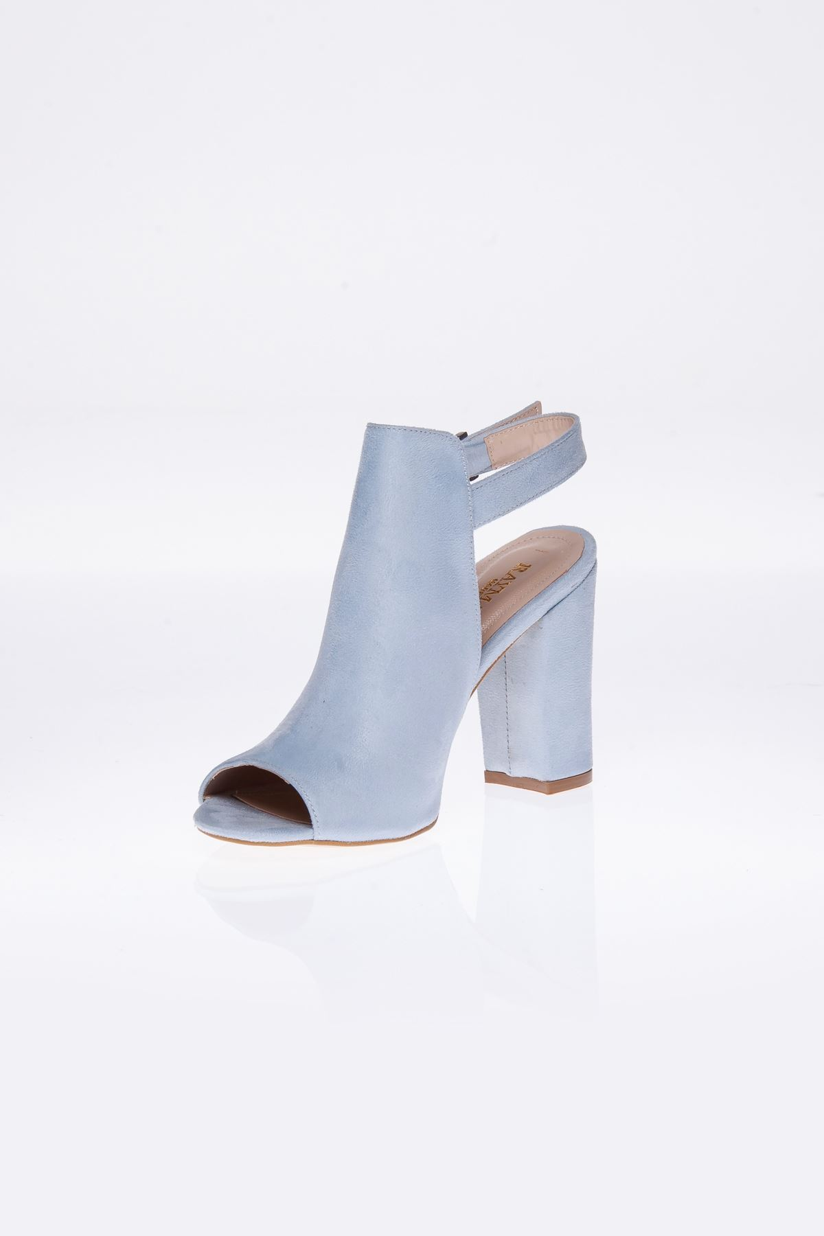 Barbara Mavi Süet Topluklu Ayakkabı