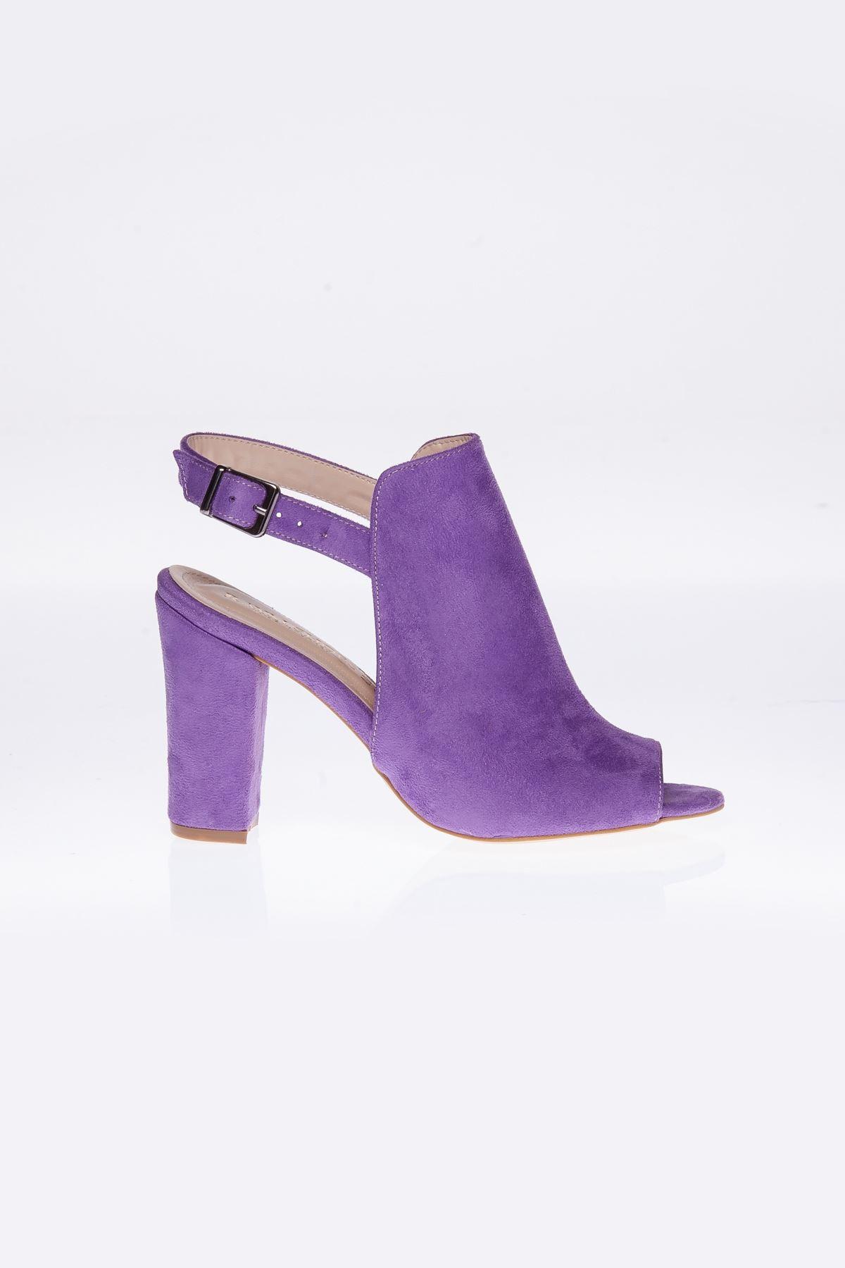 Barbara Lila Süet Topluklu Ayakkabı