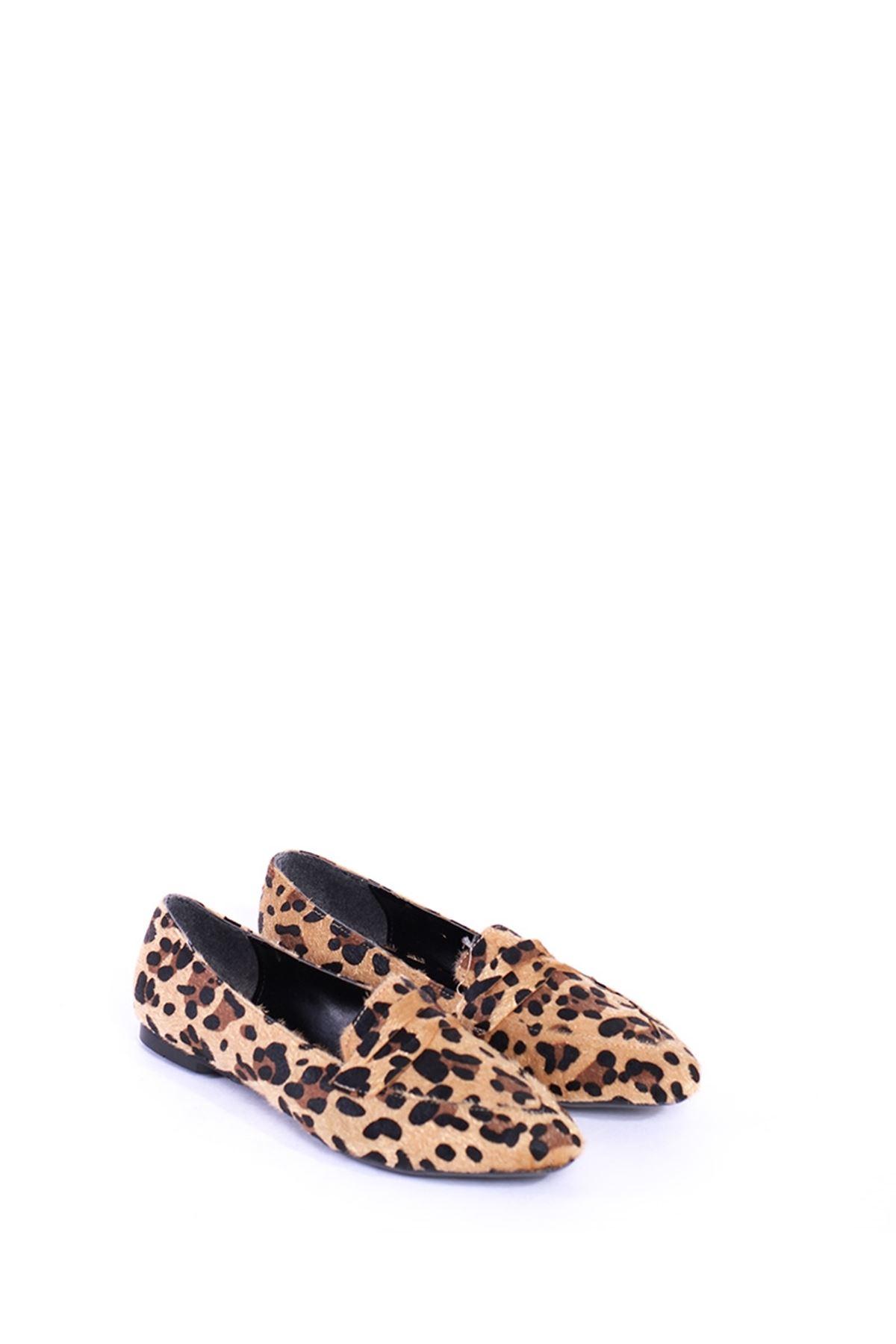 Bella Leopar Desenli Günlük Ayakkabı