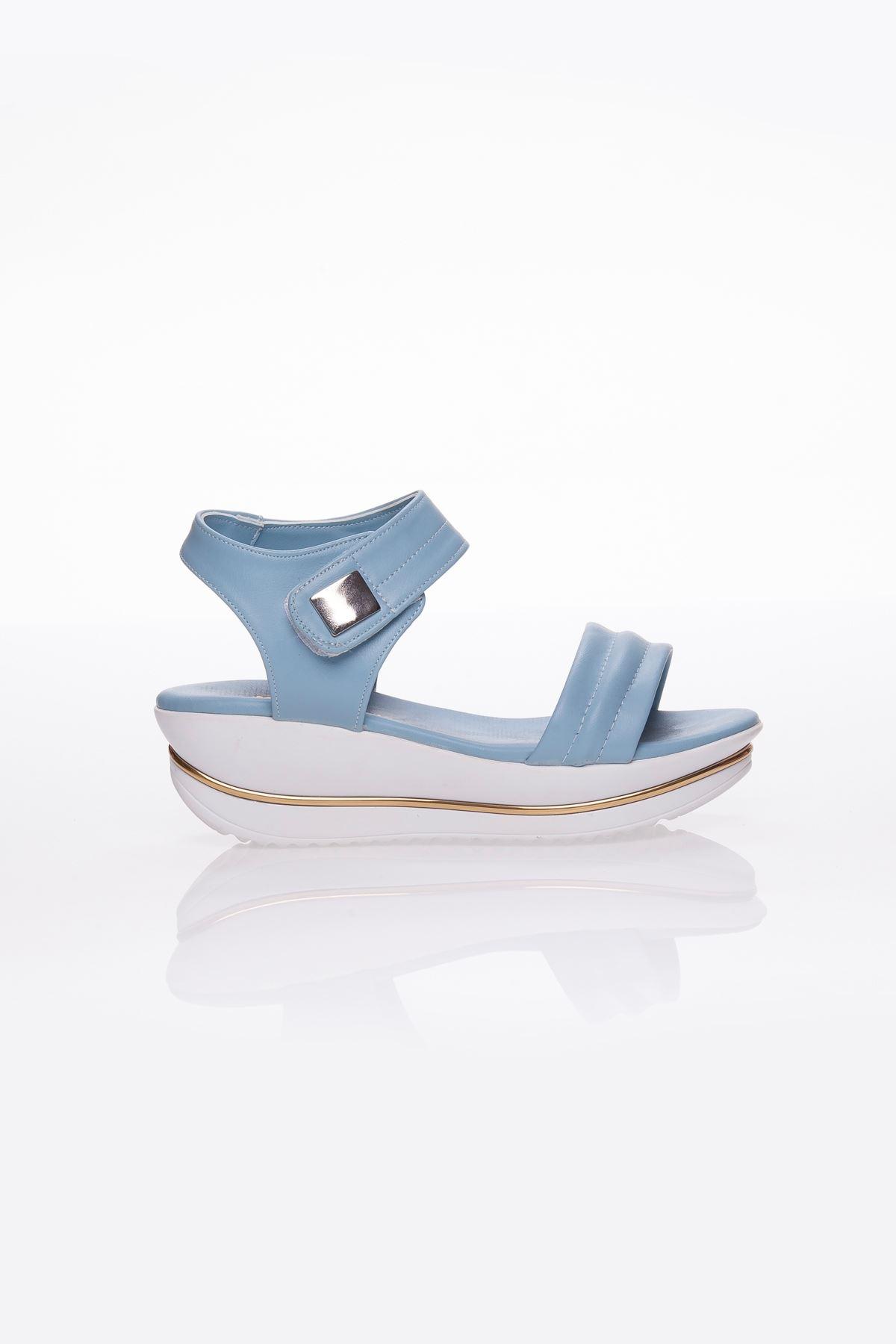 Bianca Ortapedik Bebe Mavi Bayan Sandalet