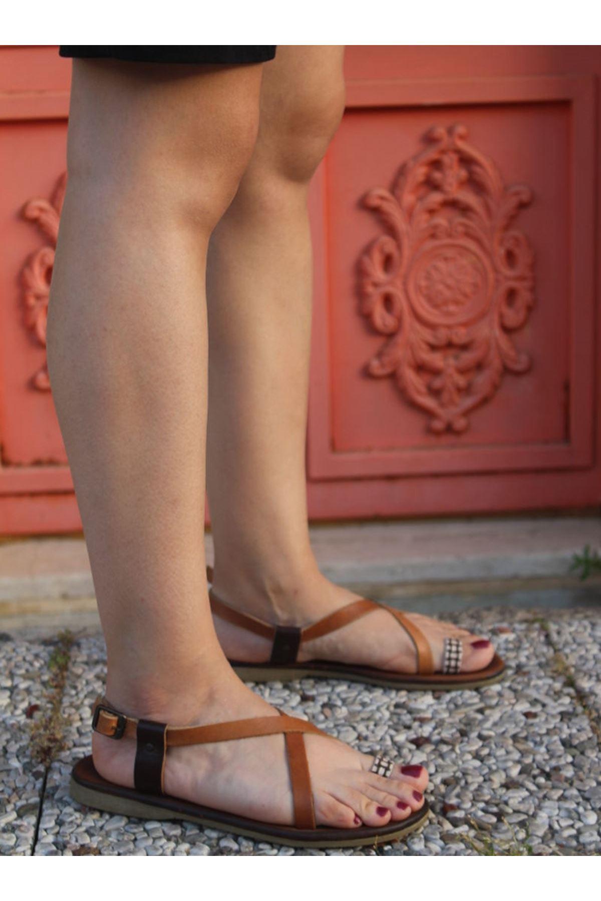 Dailes 104 Hakiki Deri Bayan Sandalet