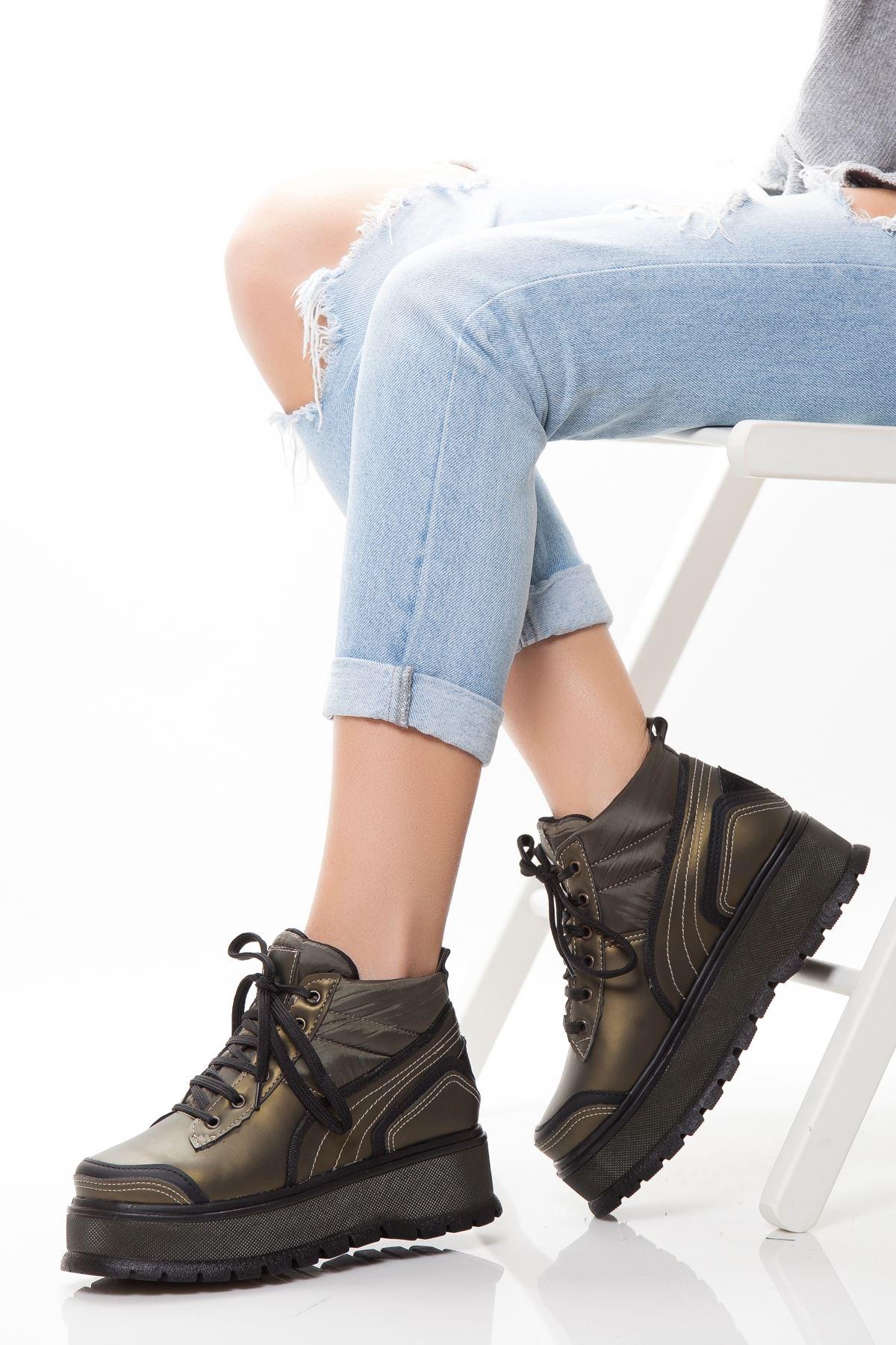 Jendy Haki Treking Rahat Kadın Spor Ayakkabı