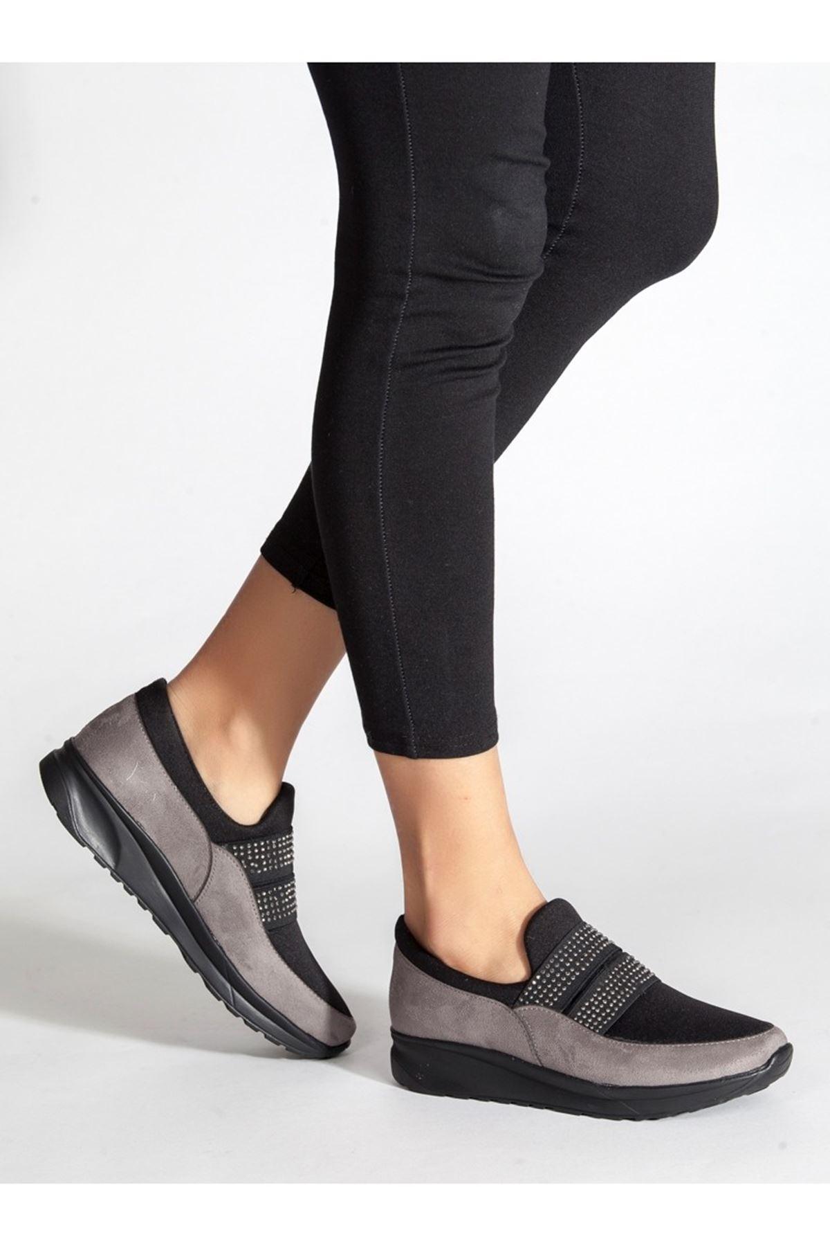 Bolo Füme Taşlı Bayan Spor Ayakkabı