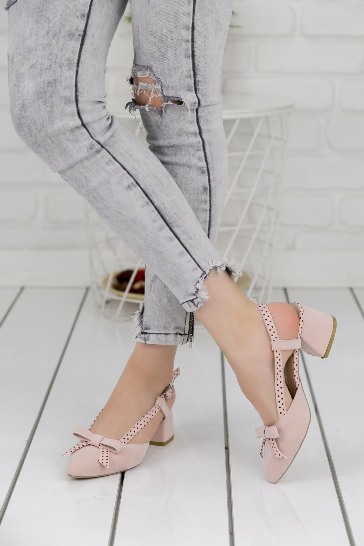 Leylan Pudra Topuklu Bayan Ayakkabı