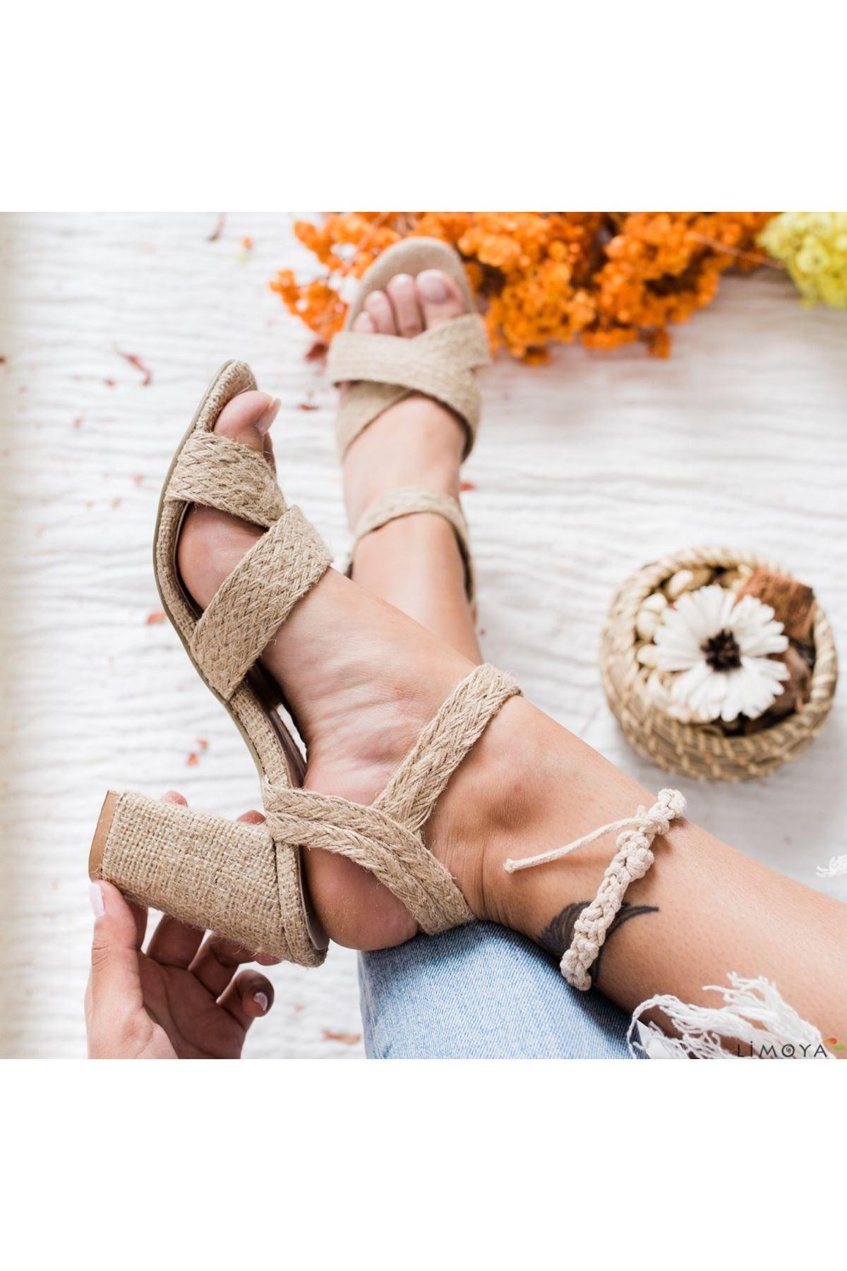 Song Keten Topuklu Bayan Ayakkabı