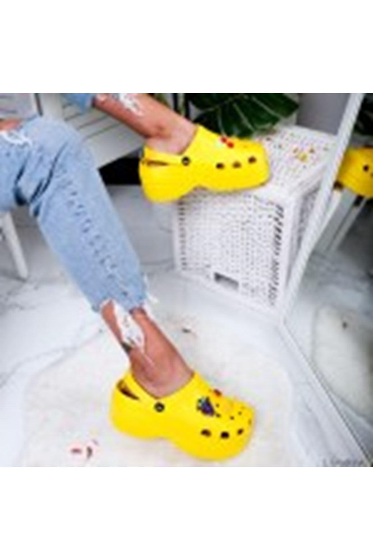 Toffy Yellow Bayan Terlik