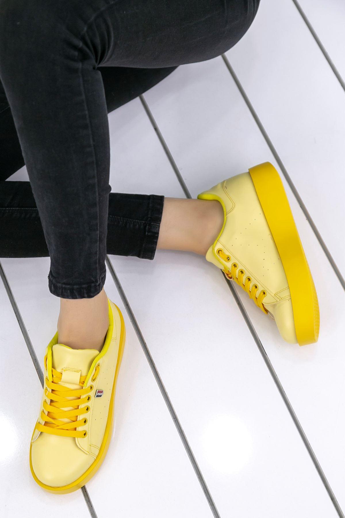 Luis Ortapedik Sarı Cilt Spor Ayakkabı