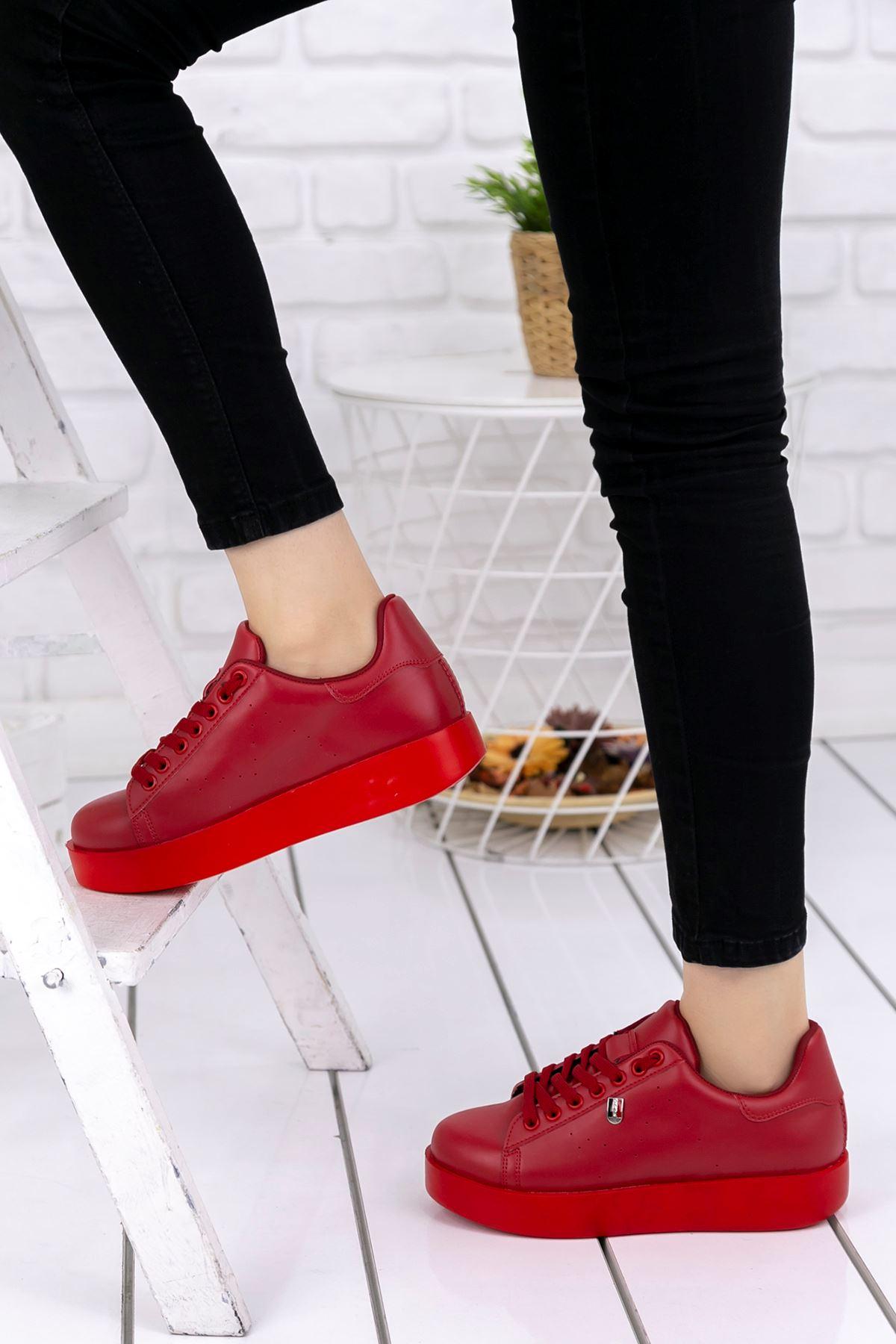 Luis Ortapedik Kırmızı Cilt Spor Ayakkabı