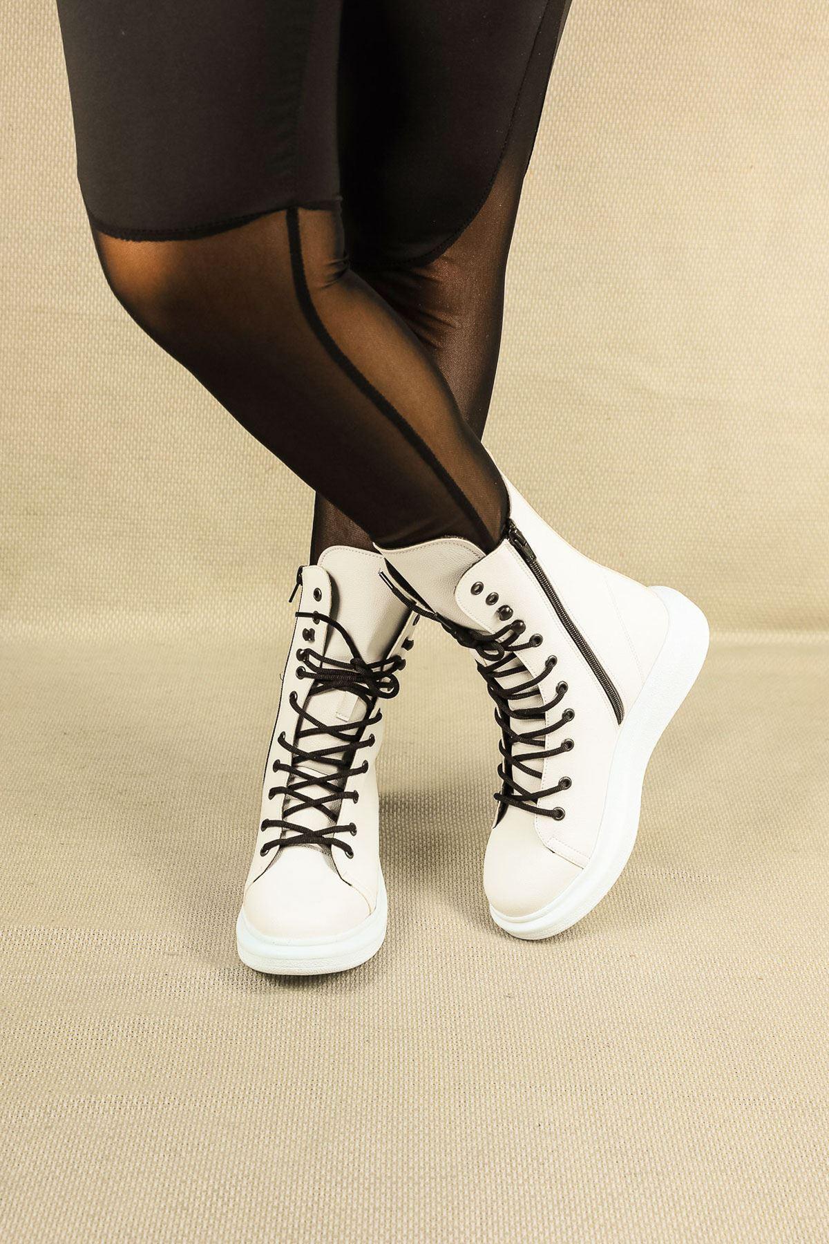 Asmira Beyaz Ortapedik Kadın Spor Ayakkabı