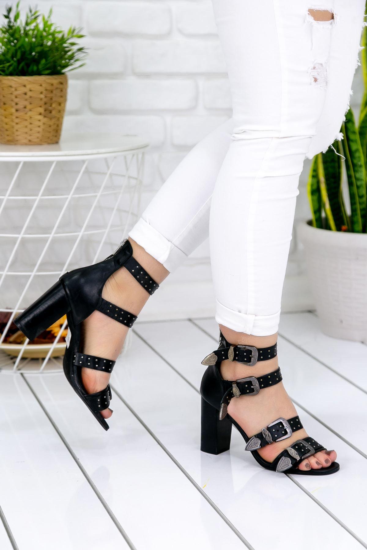 Josefa Siyah Bayan Topuklu Ayakkabı