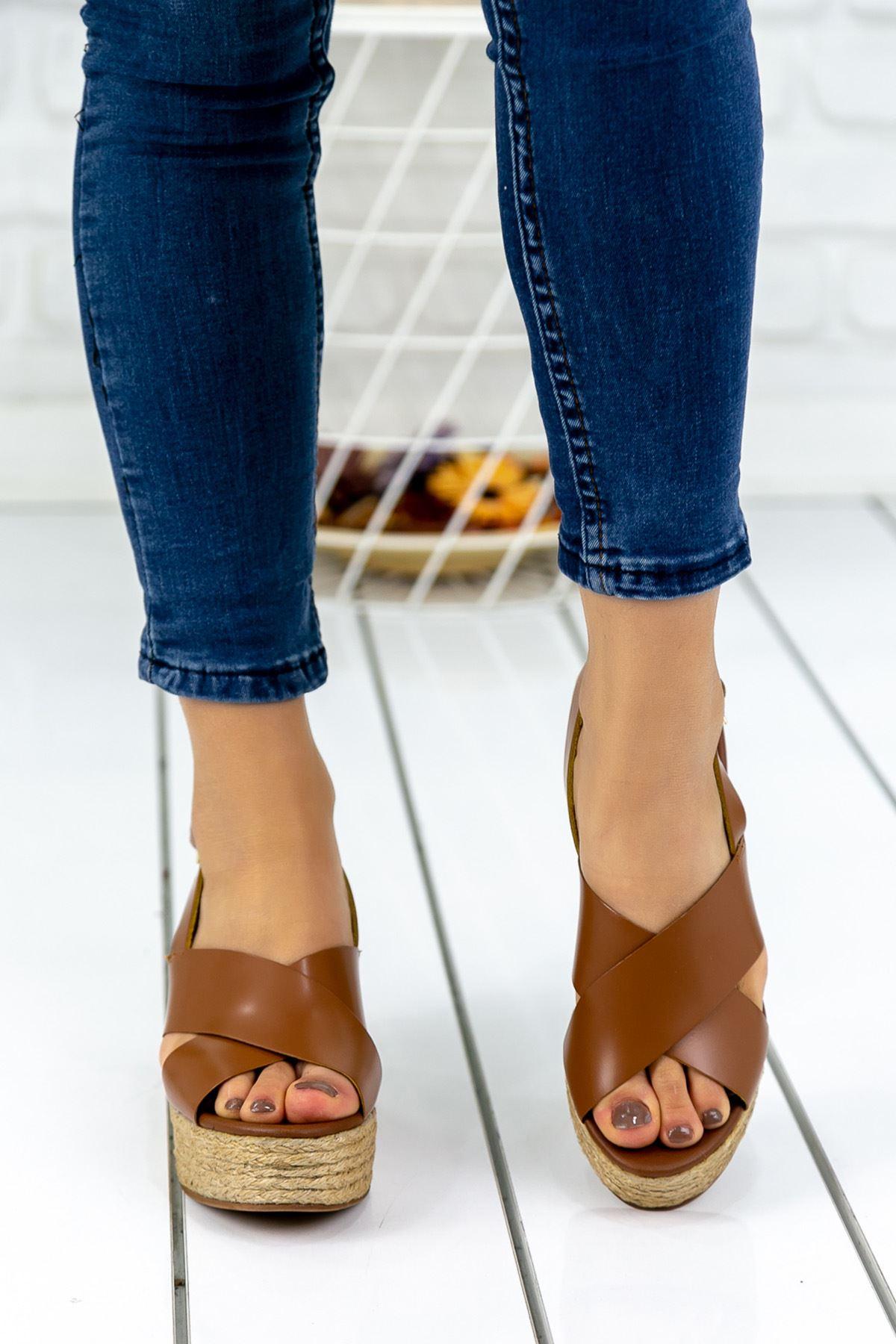 Abellan Taba Bayan Topuklu Sandalet