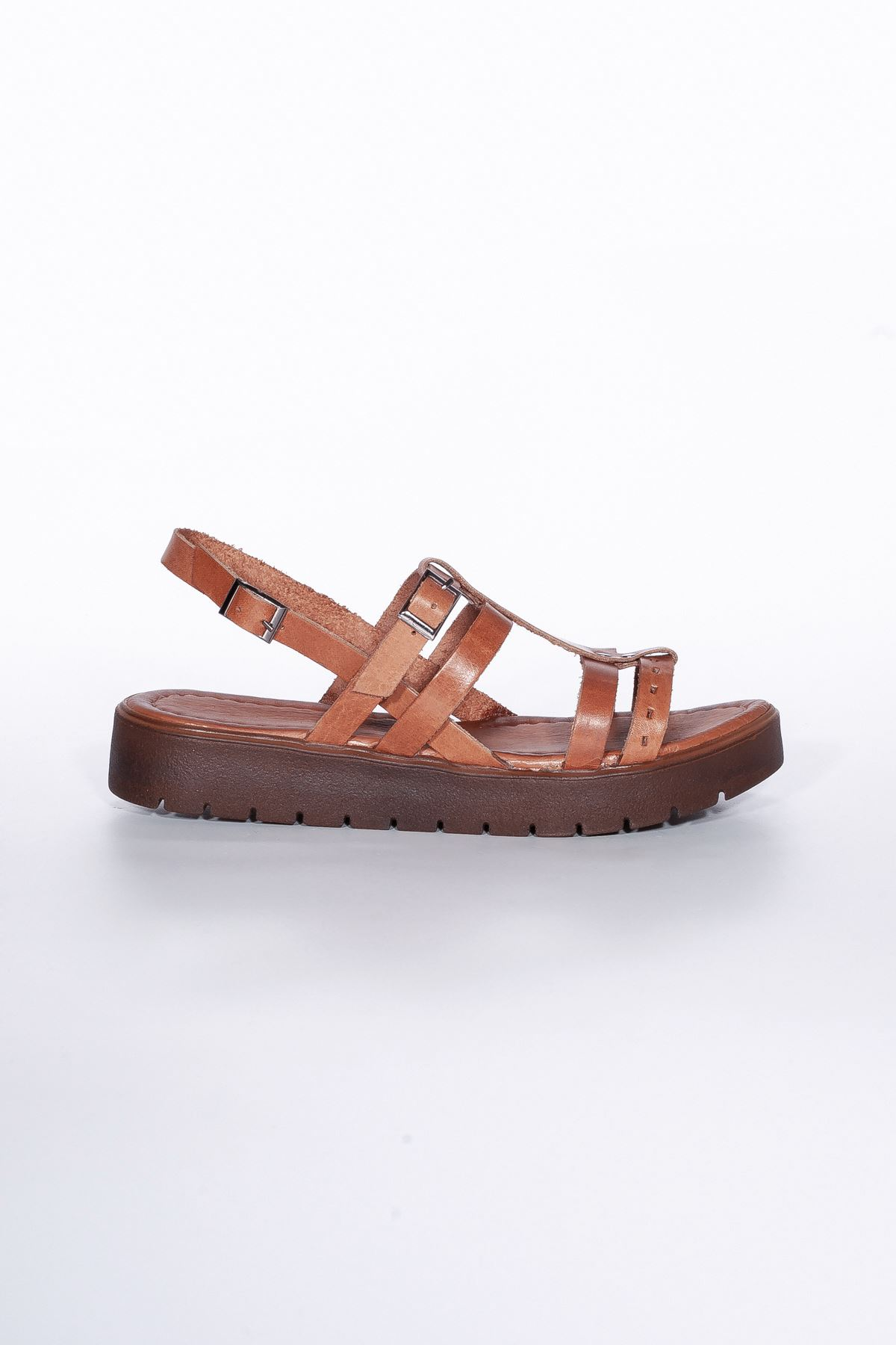 Runee RT3111 Taba Bayan Hakiki Deri Sandalet