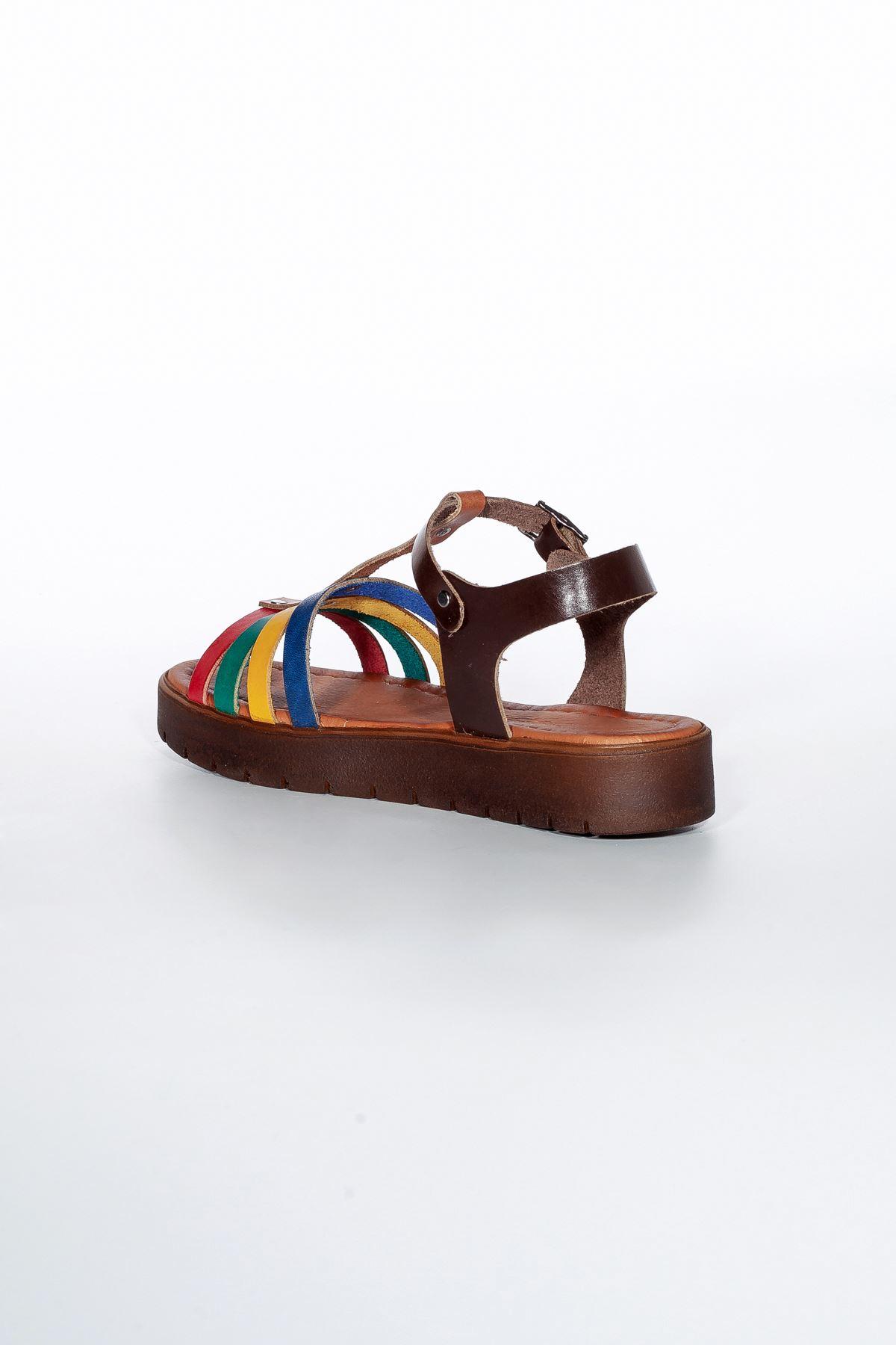 Ewran RT3132 Multi Bayan Hakiki Deri Sandalet