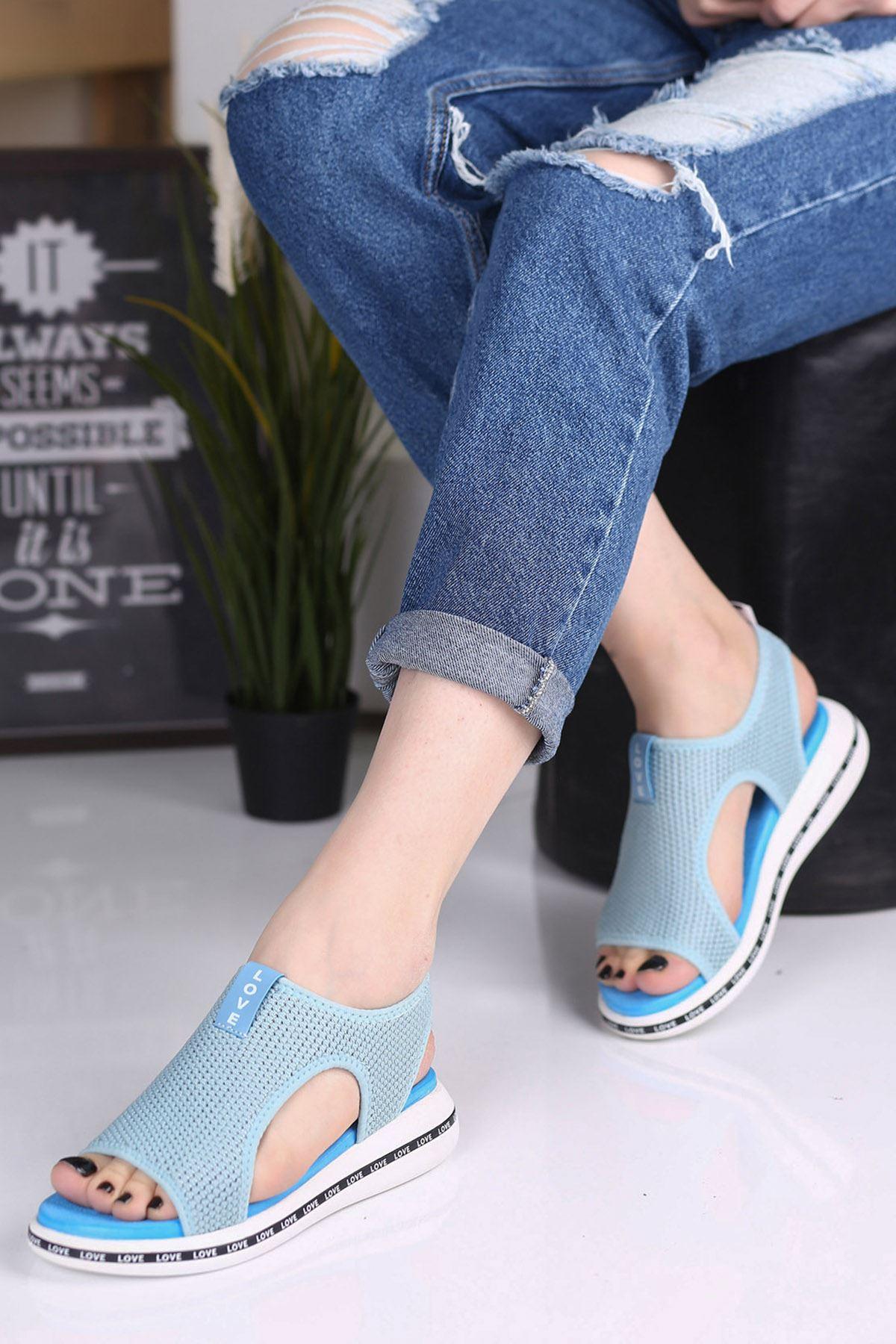 Verşan Bebe Mavisi Ortapedik Bayan Spor Ayakkabı