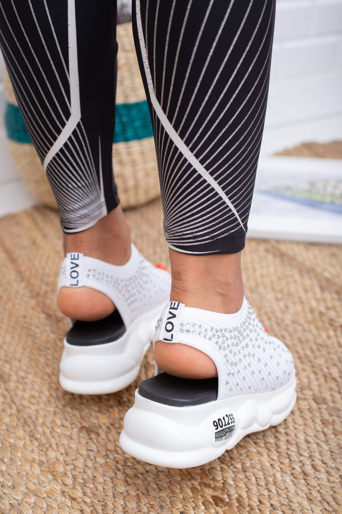 Dido Beyaz Triko Bayan Spor Ayakkabı