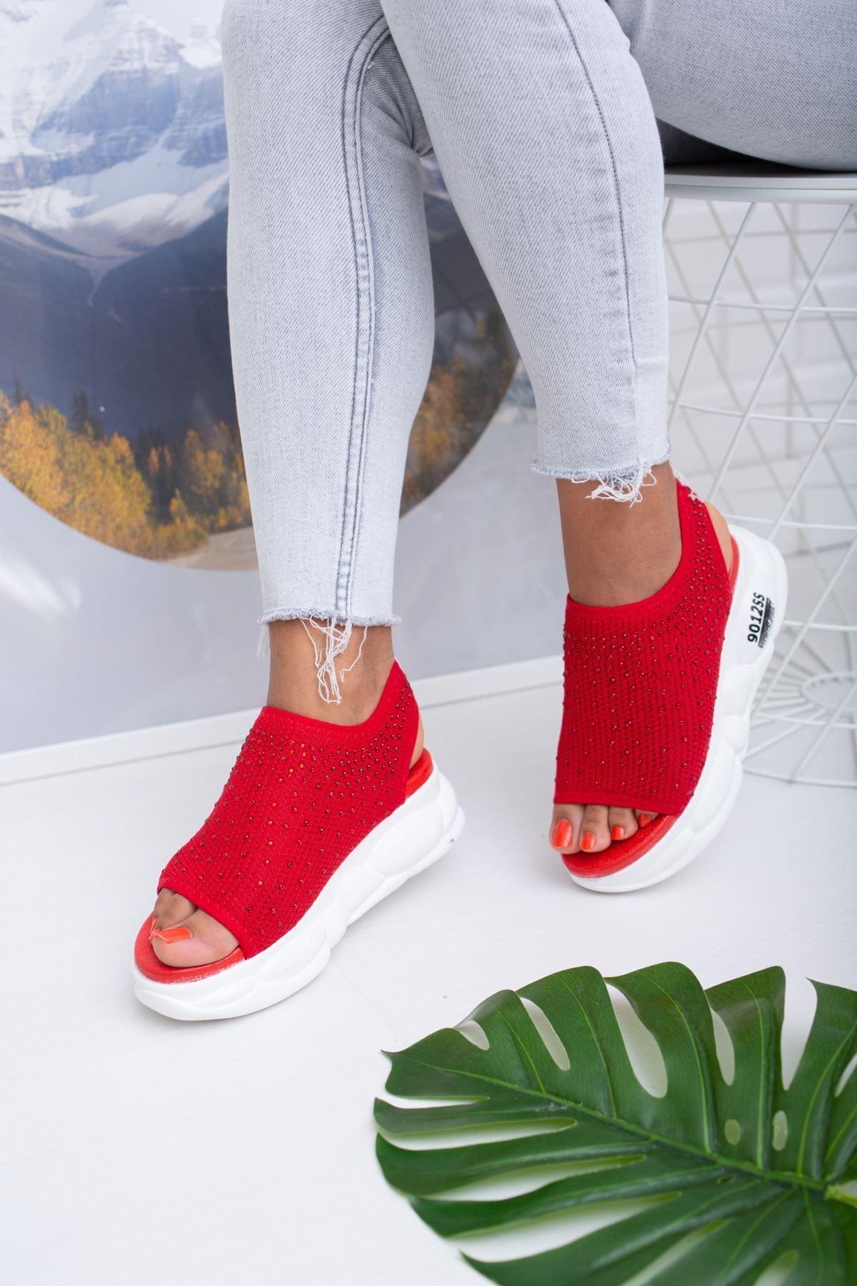 Dido Kırmızı Triko Bayan Spor Ayakkabı