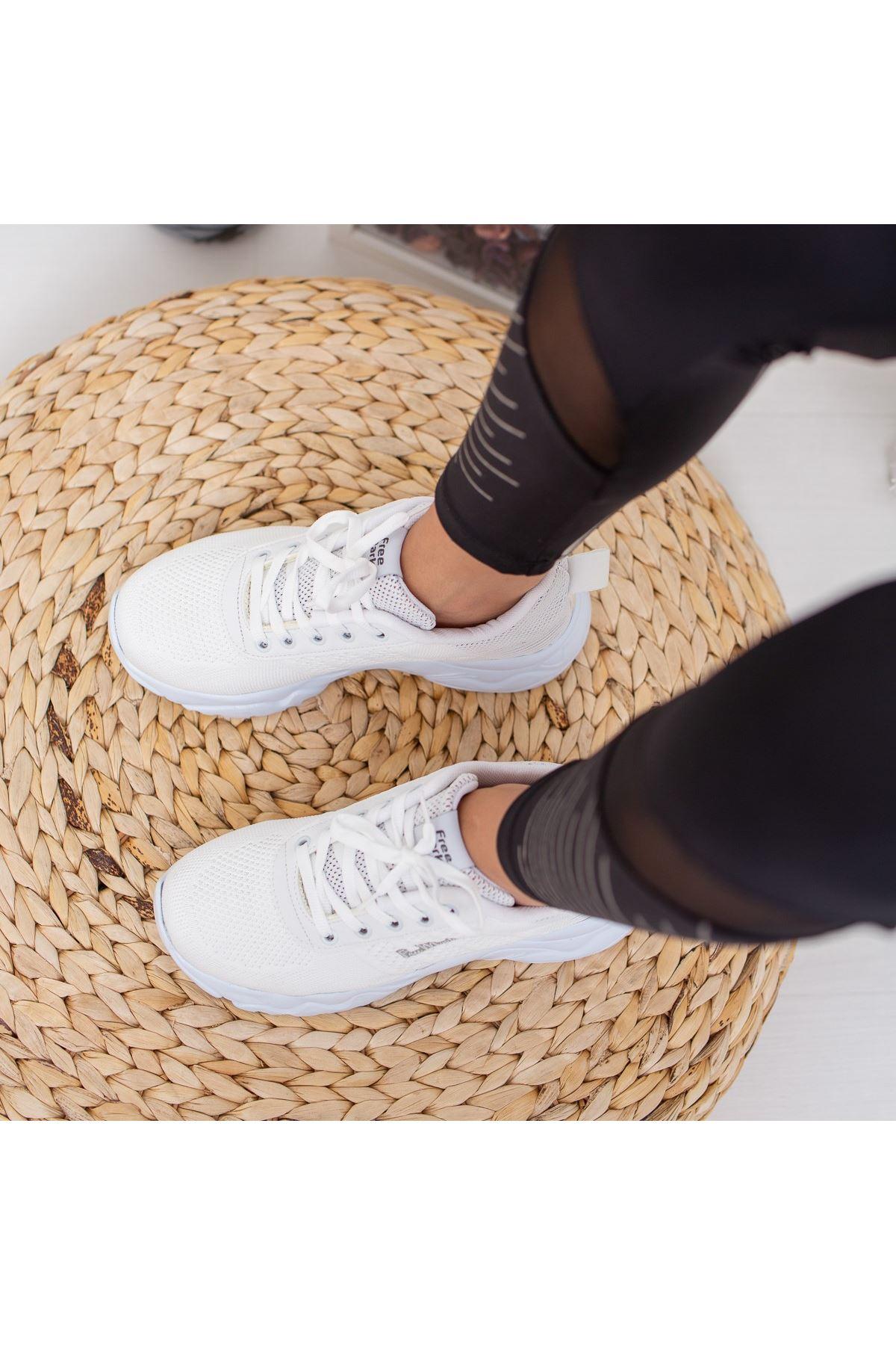 Katyi Yüksek Tabanlı Beyaz Spor Ayakkabı