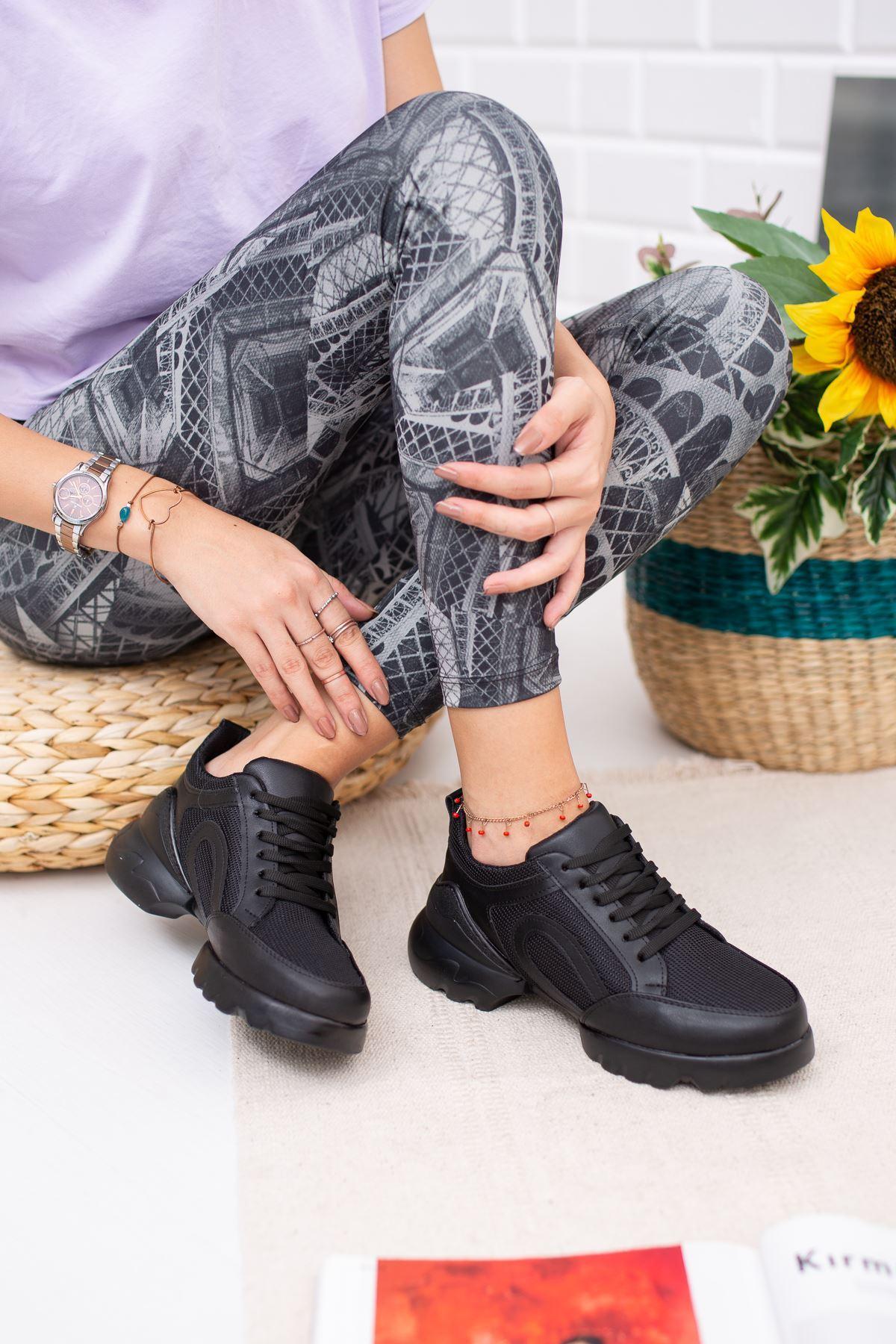 Vista Siyah Ortapedik Bayan Spor Ayakkabı