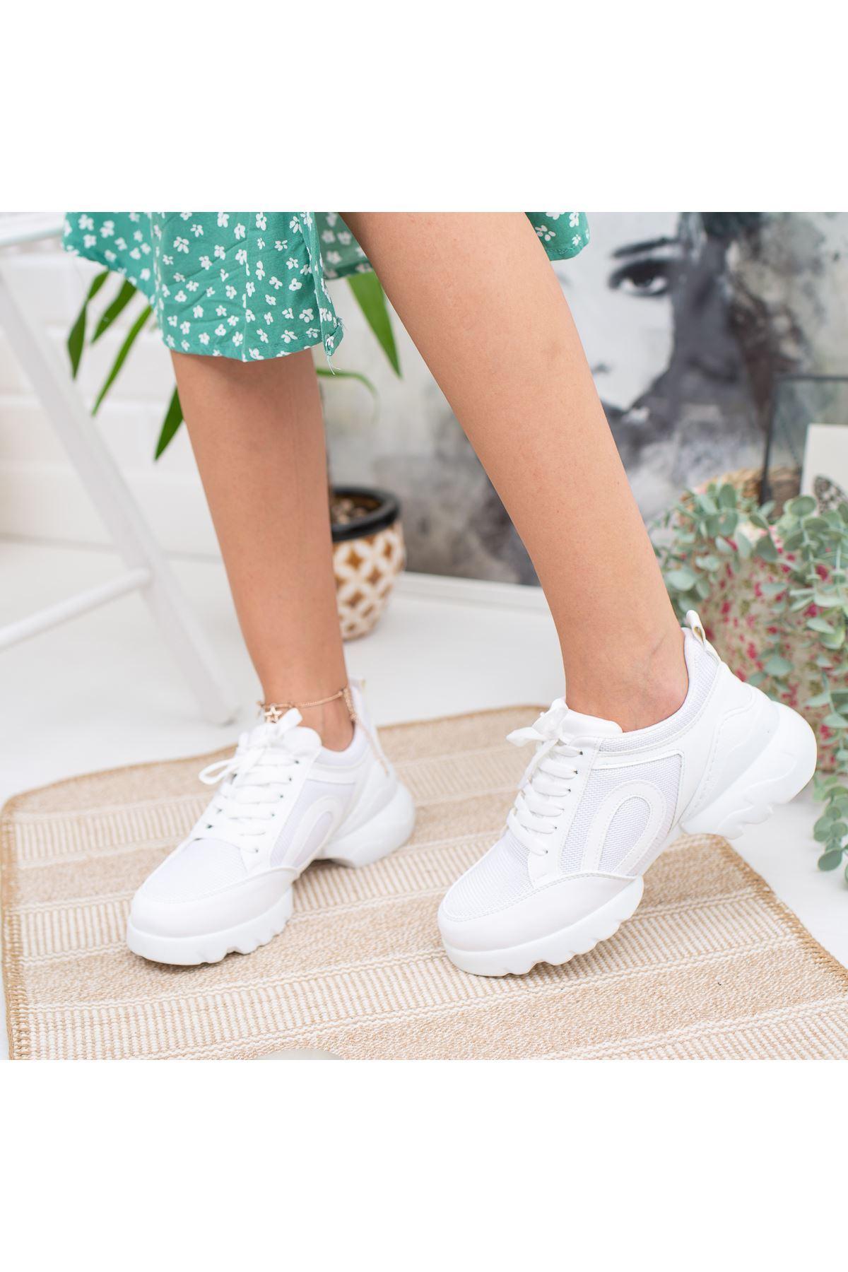 Vista Beyaz Ortapedik Bayan Spor Ayakkabı