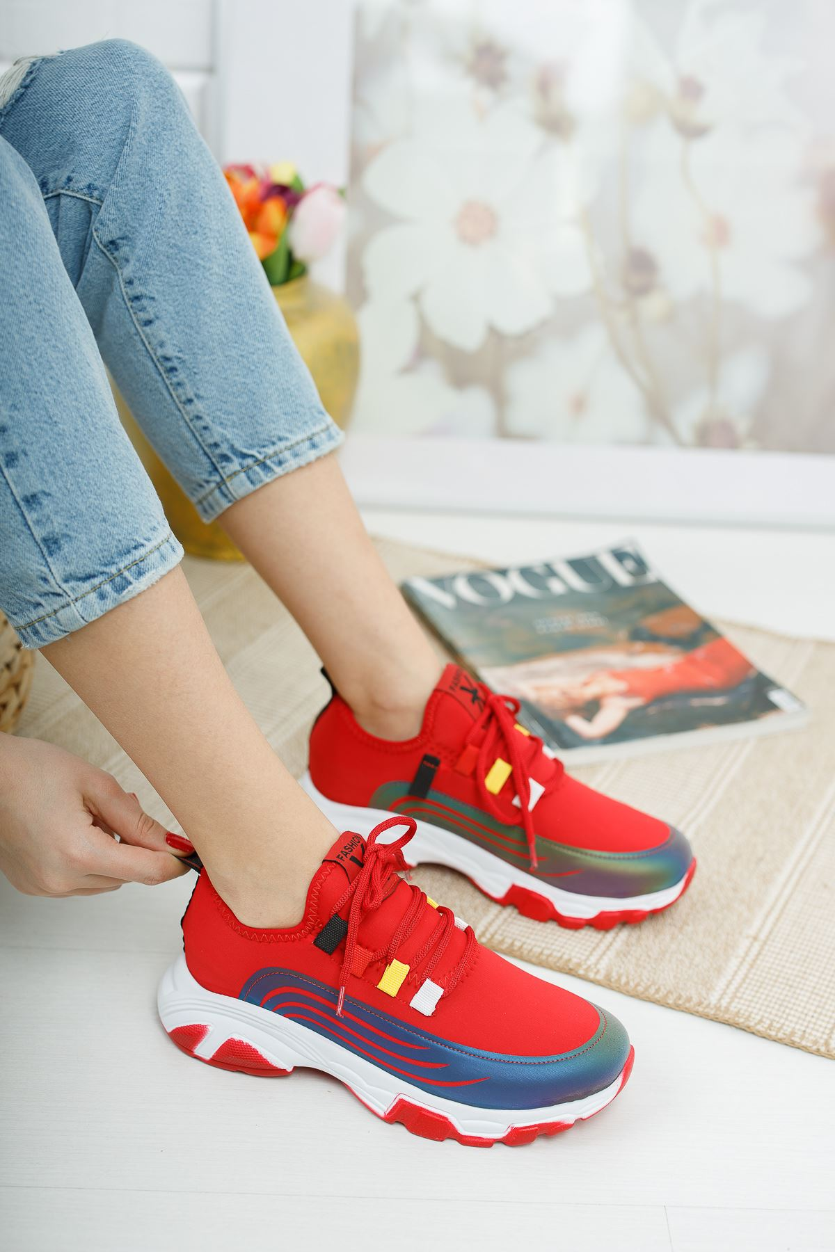 Aria Kırmızı Kadın Spor Ayakkabı
