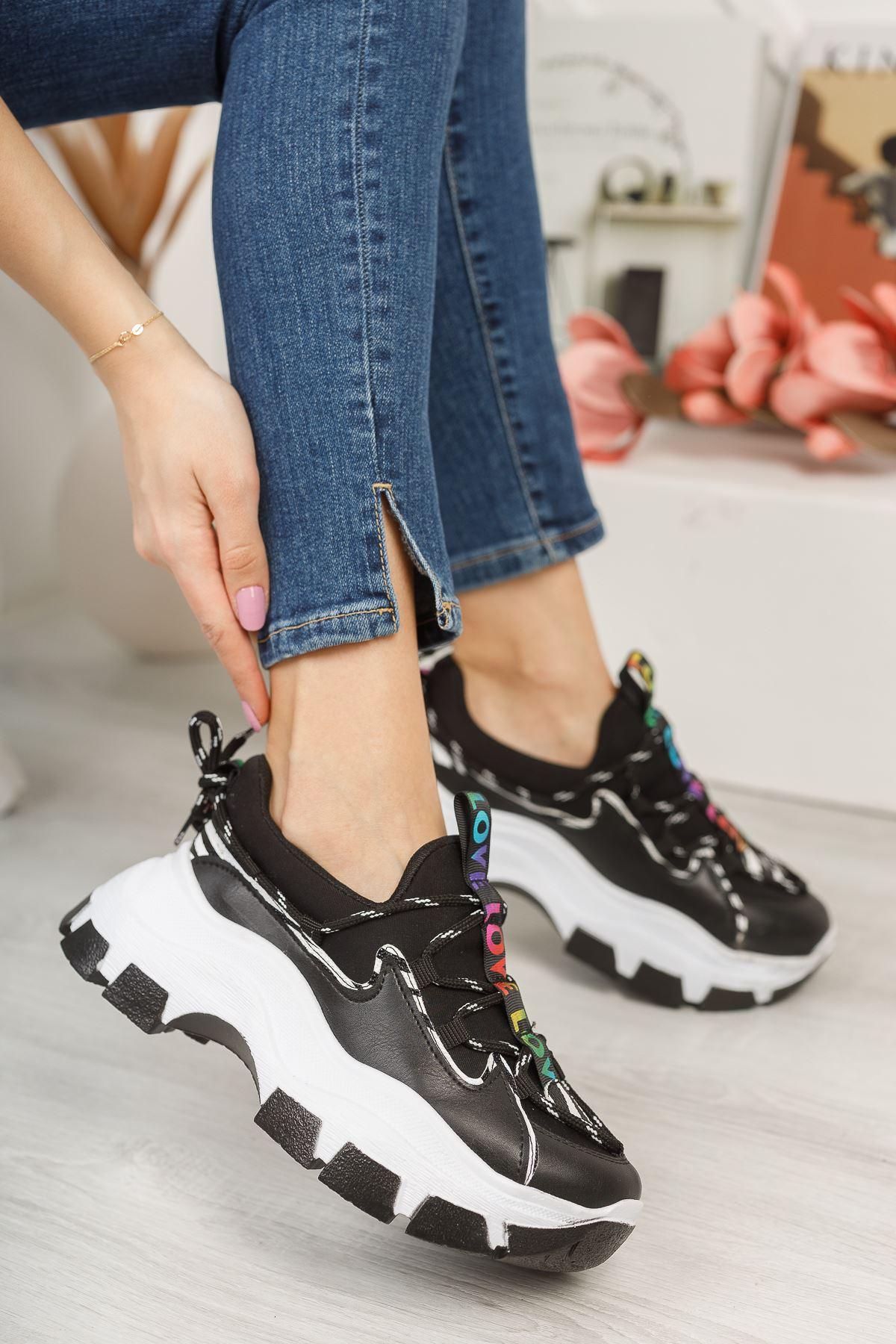 Aria Siyah Love Kadın Spor Ayakkabı