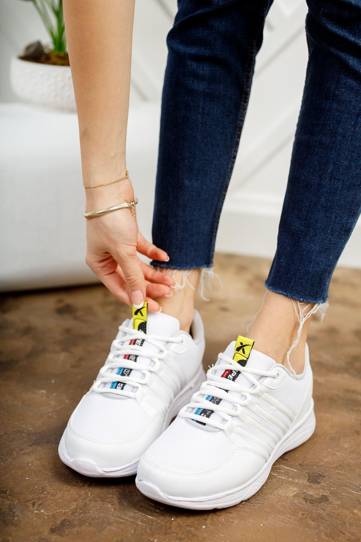 Paşi Beyaz Beyaz Kadın Spor Ayakkabı