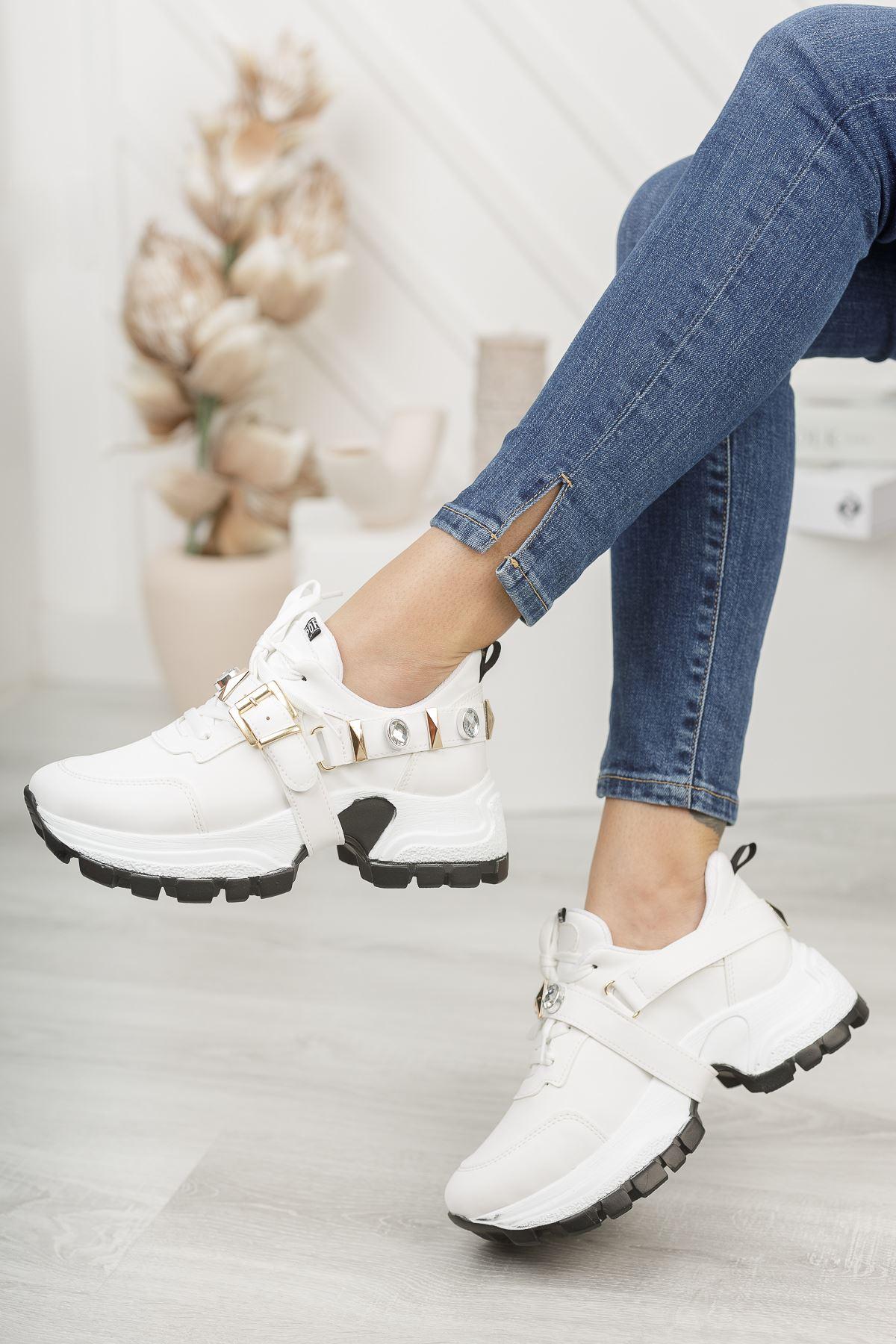 Wego Beyaz Kadın Spor Ayakkabı