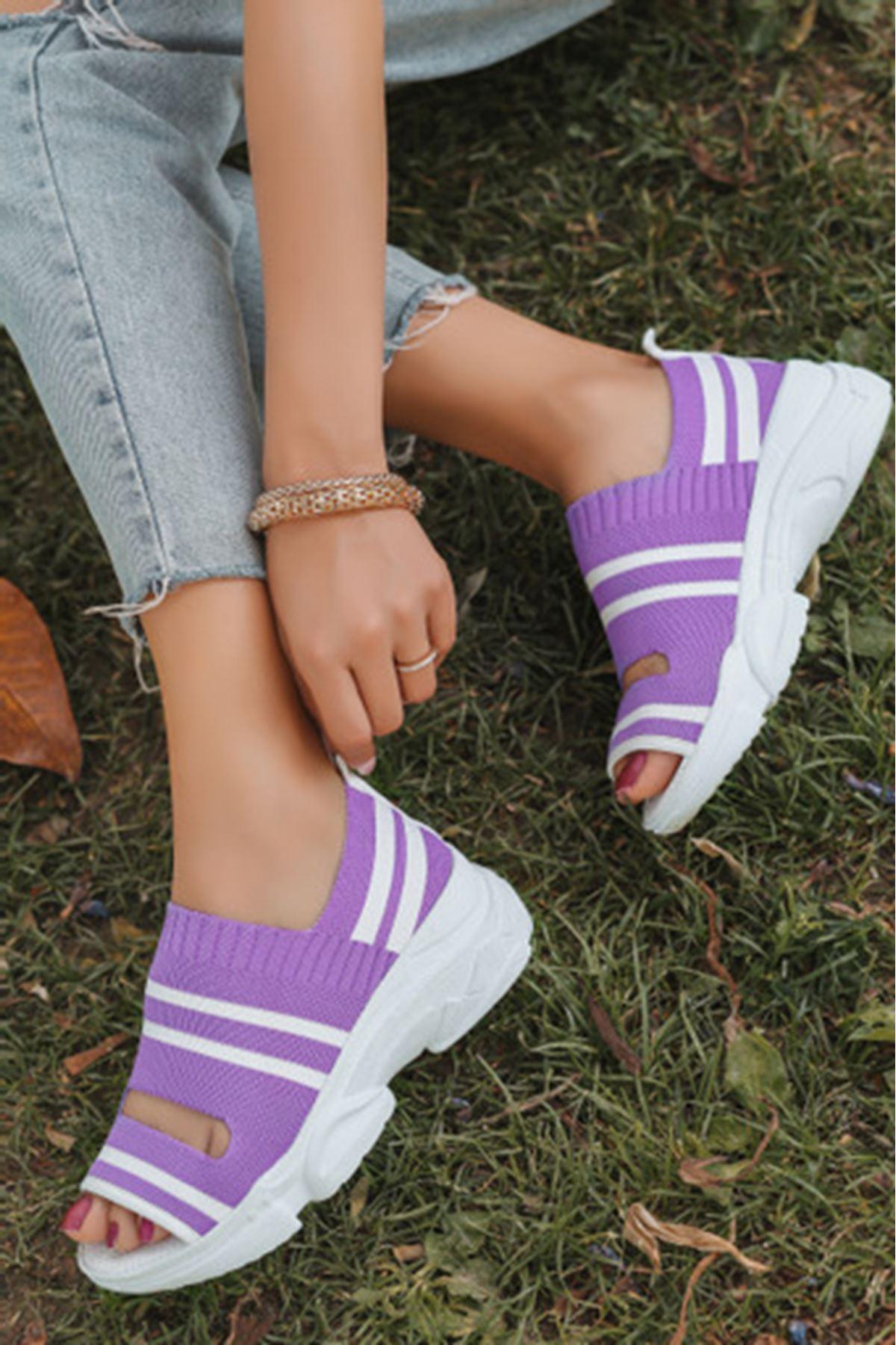 Hera Lila Triko Bayan Spor Ayakkabı