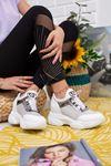 Rota Beyaz Gizli Topuk Bayan Spor Ayakkabı