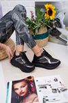 Linterie Siyah Ortapedik Bayan Spor Ayakkabı