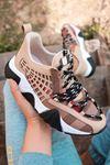 Lucifer Lüks Vizon Siyah Taban Kadın Spor Ayakkabı